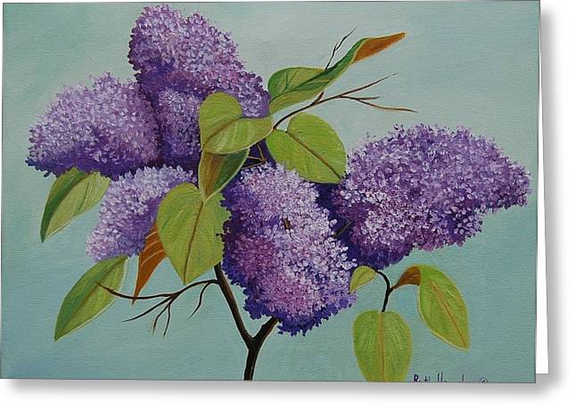 Ruth Housley Greeting Cards - Lilacs Greeting Card by Ruth  Housley