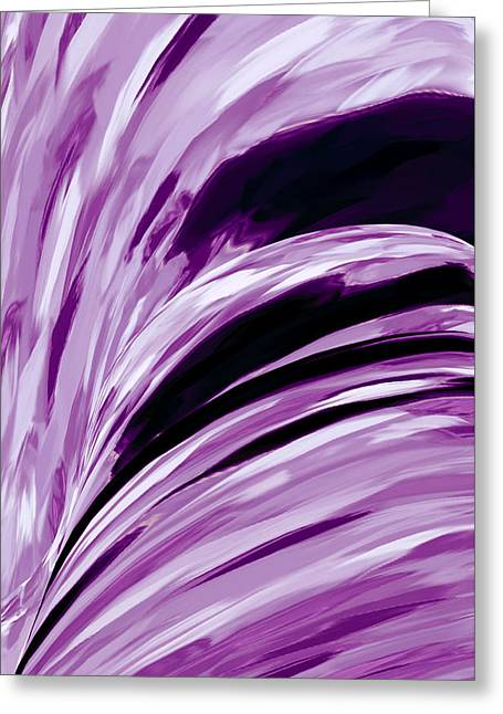 Abstract Digital Tapestries - Textiles Greeting Cards - Lilacs Greeting Card by Suzi Freeman