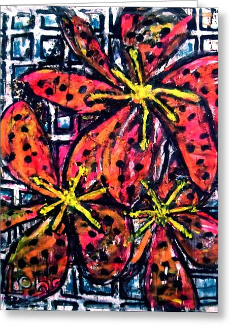 Day Lilly Greeting Cards - Lilies For My Mother Greeting Card by Charles Long