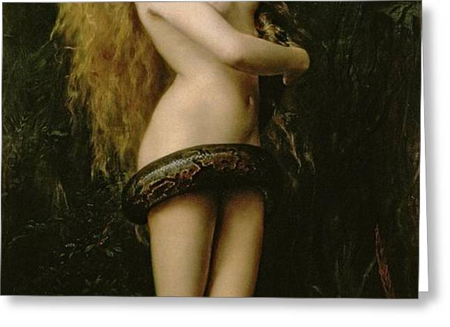 Lilith Greeting Card by John Collier