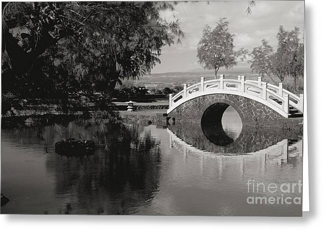 Brown Toned Art Greeting Cards - Liliuokalani Gardens Greeting Card by Peter French - Printscapes