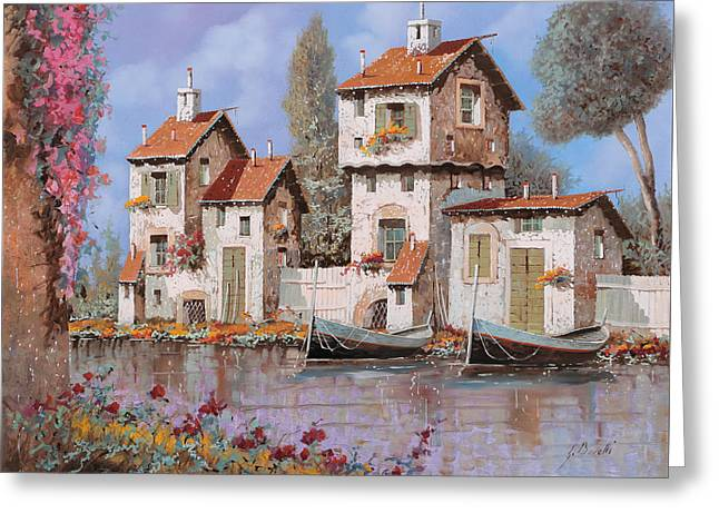 """pink Flower"" Greeting Cards - Lilla Greeting Card by Guido Borelli"