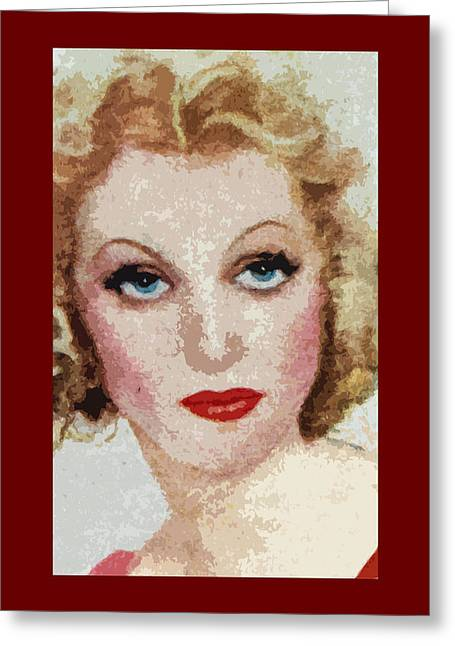 Lilli Greeting Cards - Lilli Palmer Greeting Card by James Hill
