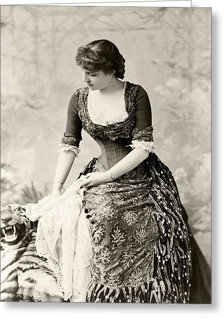 Charlotte Photographs Greeting Cards - Lillie Langtry 1853 To 1929 Born Emilie Greeting Card by Ken Welsh