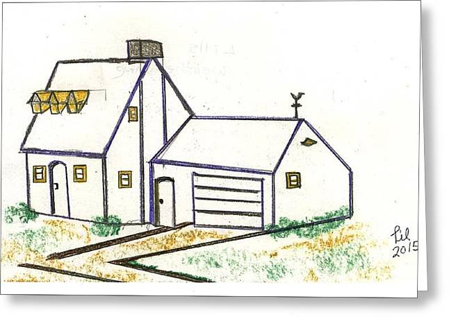 Weathervane Drawings Greeting Cards - Lills Weathervane Greeting Card by Lill Curth