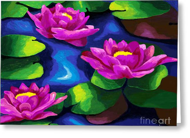 Stream Digital Art Greeting Cards - Lilly Impressions Greeting Card by Jackie Case