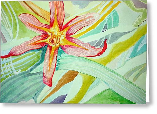 Jame Hayes Greeting Cards - Lilly  Greeting Card by Jame Hayes
