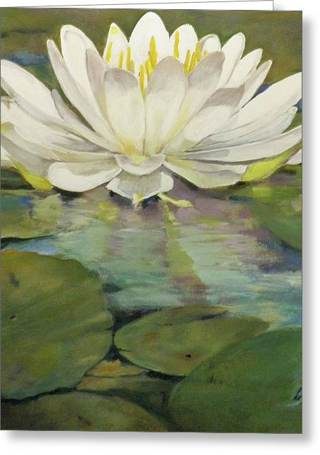 Lilly Pads Greeting Cards - Lilly pad Greeting Card by Walt Maes
