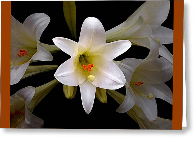Floral Digital Art Greeting Cards - Lily Greeting Card by Ben and Raisa Gertsberg