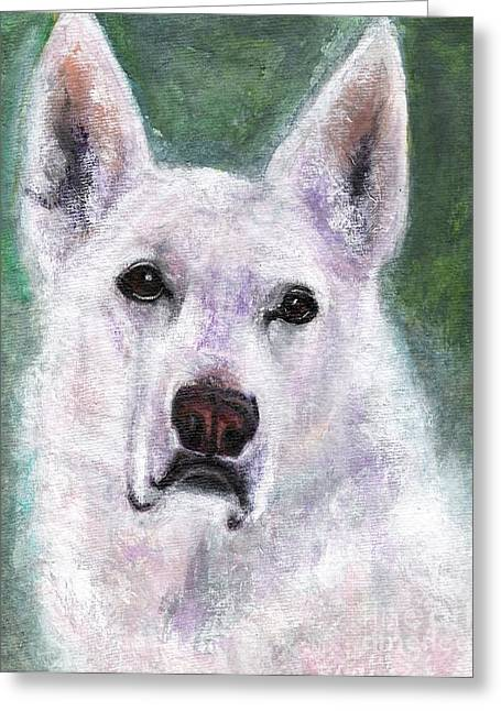 German Shepard Dogs Greeting Cards - Lily Greeting Card by Frances Marino