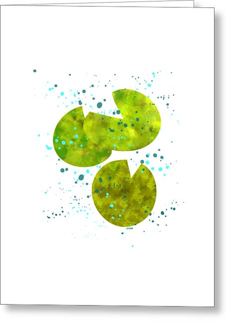Chinese Greeting Cards - Lily Pad Rain Greeting Card by Oiyee  At Oystudio