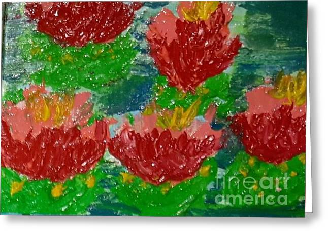Nature Abstracts Reliefs Greeting Cards - Lily Pads Greeting Card by Cindy  Riley