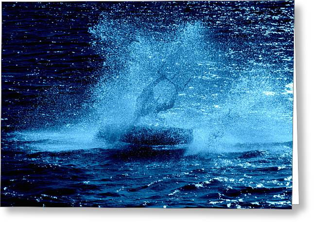 Wind Surfing Art Print Greeting Cards - Lily Winds The Kiteboarder Spirit Greeting Card by Lily Winds