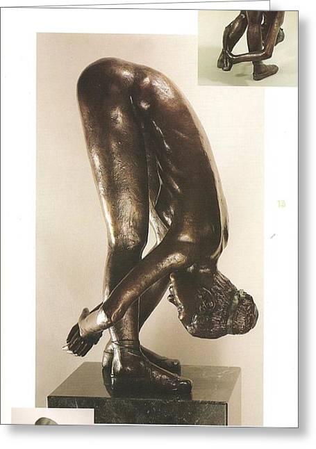 Realistic Sculpture Sculptures Sculptures Greeting Cards - Limber Greeting Card by Anna Wiechec
