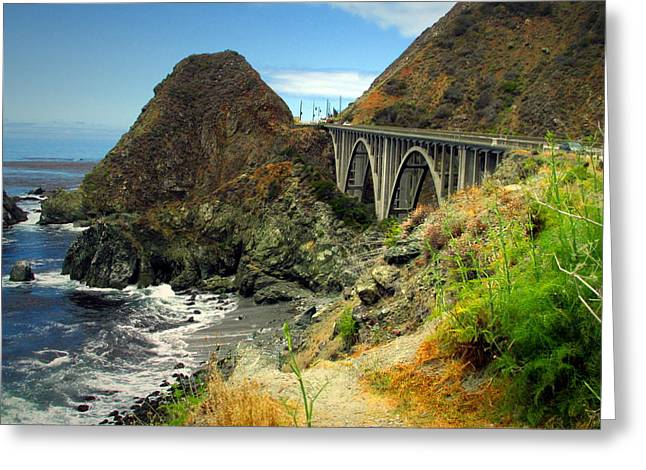 Big Sur California Greeting Cards - Lime Creek Bridge Highway 1 Big Sur CA Greeting Card by Joyce Dickens