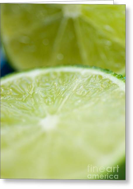 Sour Greeting Cards - Lime Cut Greeting Card by Ray Laskowitz - Printscapes