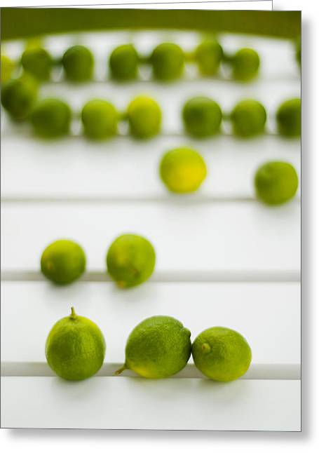 Lime Green Greeting Card by Skip Hunt