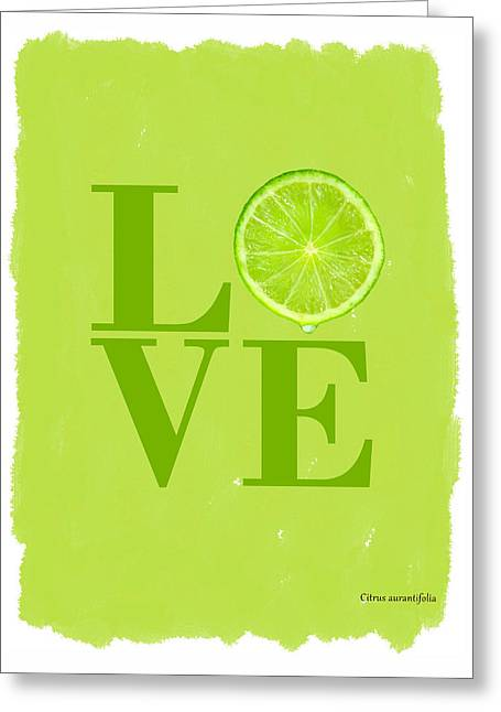 Lime Greeting Card by Mark Rogan