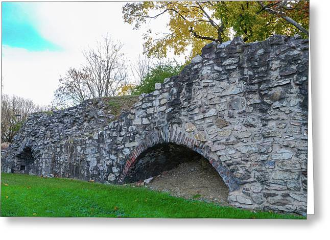 Limekiln In Plymouth Meeting Greeting Card by Bill Cannon