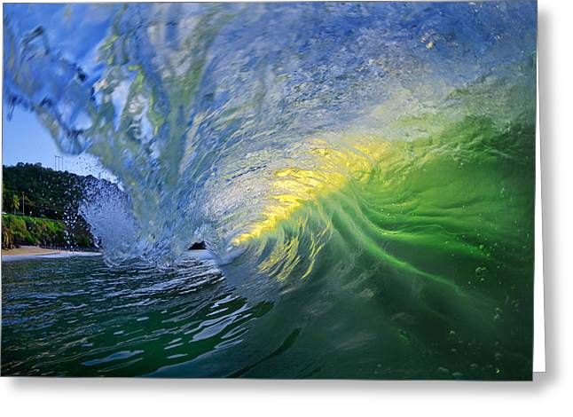Ocean Energy Greeting Cards - Limelight Greeting Card by Sean Davey