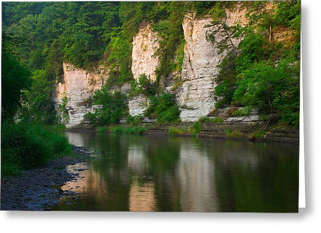 Limestone Bluffs Along Upper Iowa Greeting Card by Panoramic Images