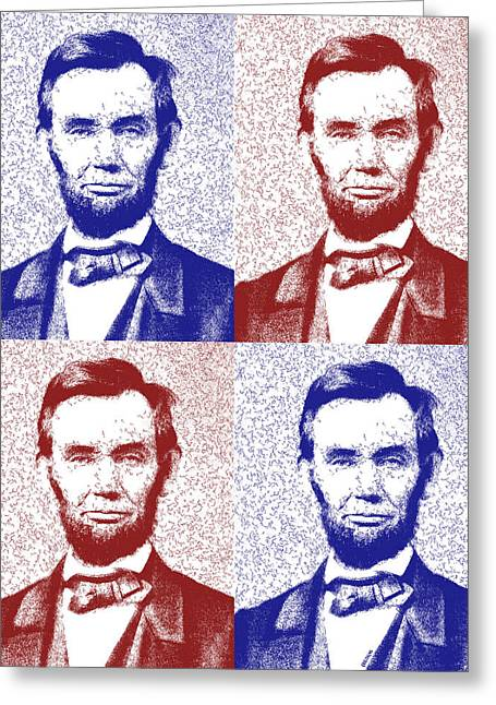 Lincoln Abstract America Greeting Card by Greg Collins