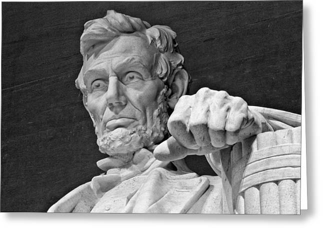 Lincoln And His Hand Greeting Card by Andres Leon