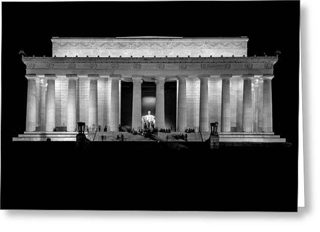 4th July Greeting Cards - Lincoln at Night Greeting Card by Neptune