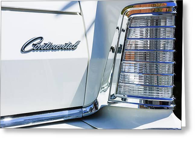 Lincoln Continental Mark Iv Head Light -0149c Greeting Card by Jill Reger