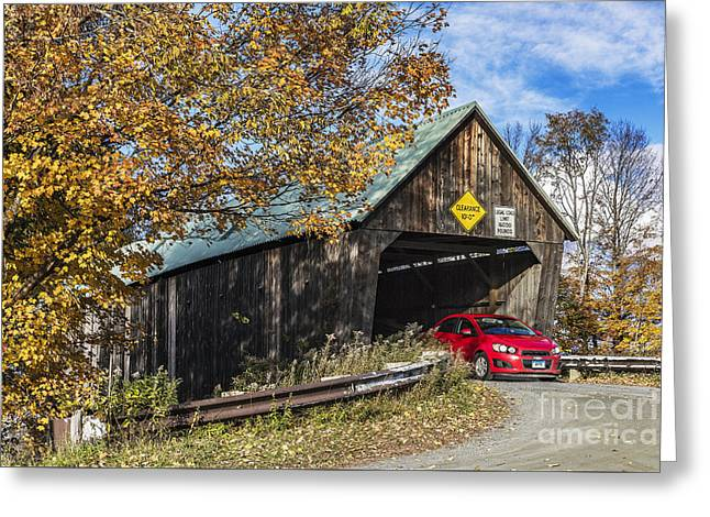 Lincoln Covered Bridge Greeting Card by John Greim