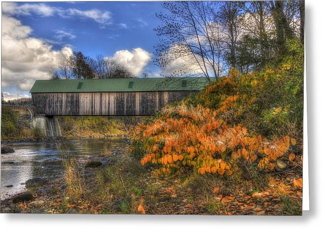 Lincoln Covered Bridge - Woodstock, Vt Greeting Card by Joann Vitali