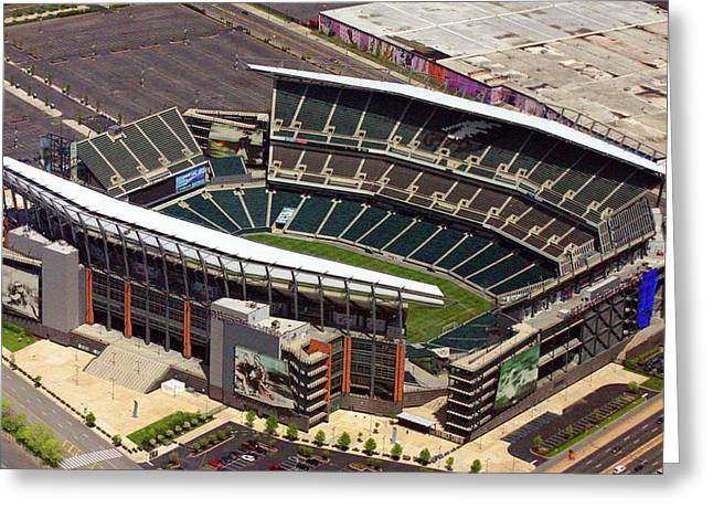 Lincoln Financial Field Philadelphia Eagles Greeting Card by Duncan Pearson