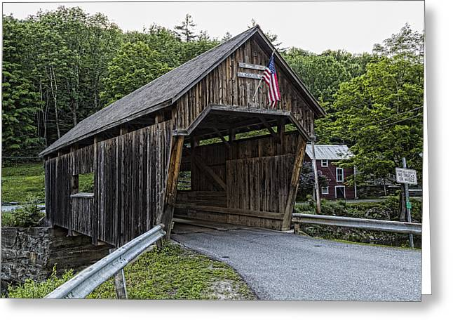 Covered Bridge Greeting Cards - Lincoln Gap Covered Bridge Greeting Card by Stephen Stookey