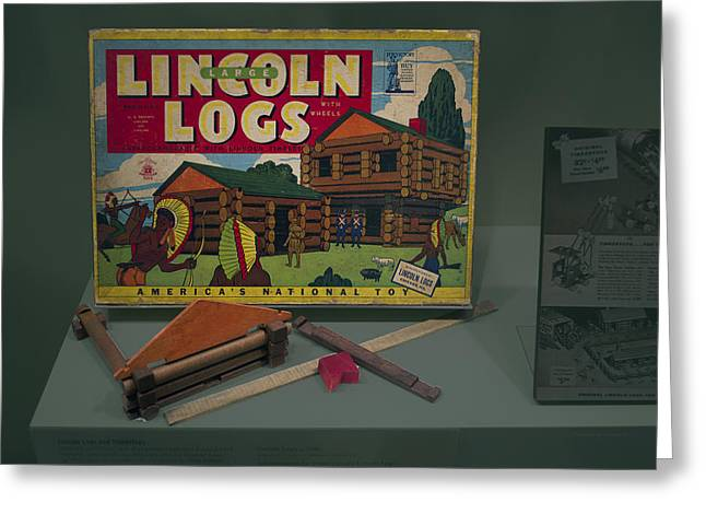 Lincoln Logs Toys Greeting Card by Thomas Woolworth