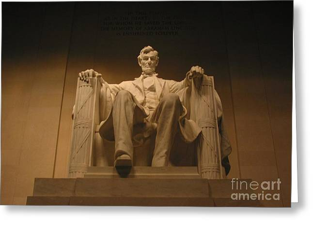 Lincoln Memorial Greeting Card by Brian McDunn