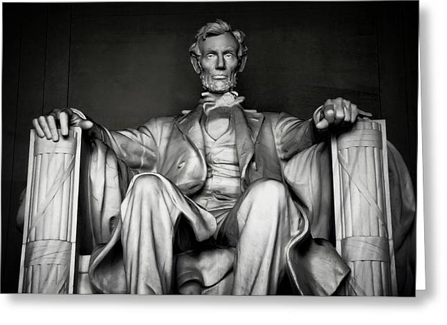 Civil Greeting Cards - Lincoln Memorial Greeting Card by Daniel Hagerman