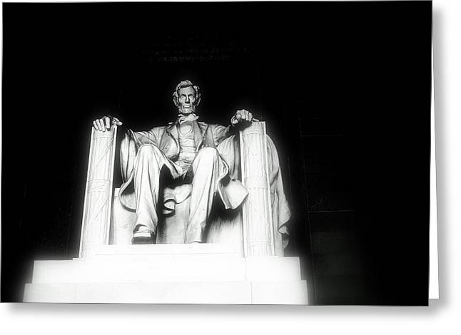 Glow Pyrography Greeting Cards - Lincoln Memorial  Greeting Card by Kristina Randal