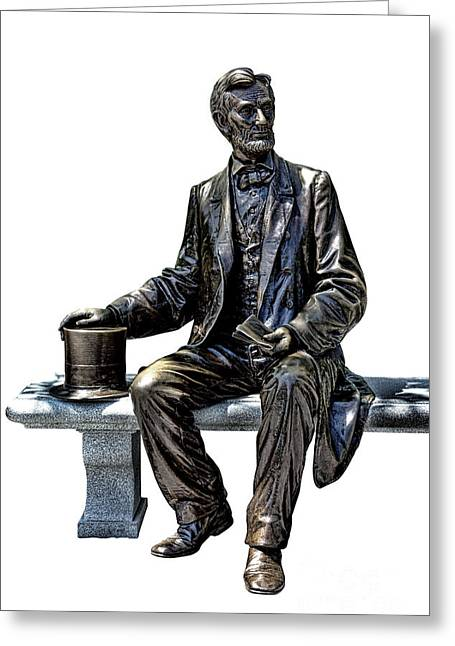 Confederate Monument Greeting Cards - Lincoln Greeting Card by Olivier Le Queinec