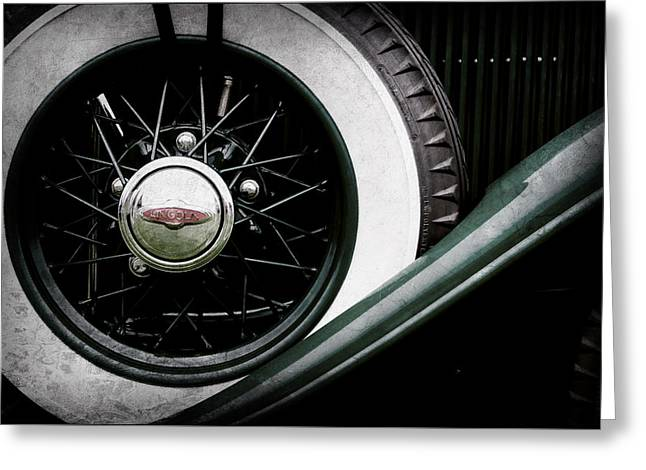 Lincoln Spare Tire Emblem -1842ac Greeting Card by Jill Reger