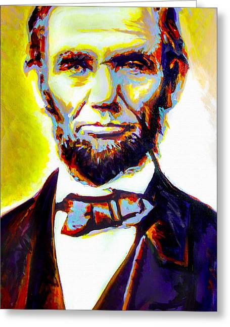 Abolition Paintings Greeting Cards - Lincoln Greeting Card by Steve Gamba