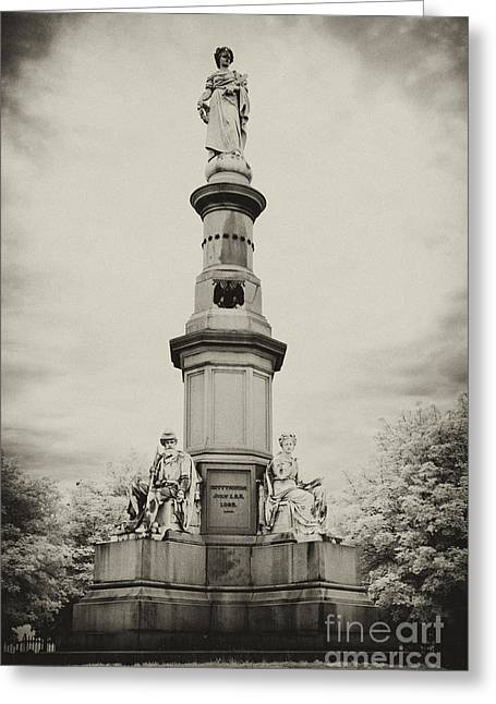 Gettysburg Address Greeting Cards - Lincolns Gettysburg Address Site - toned Greeting Card by Paul W Faust -  Impressions of Light