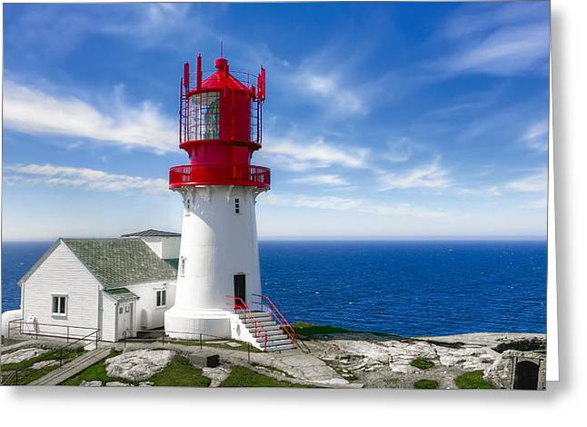 Lindesnes Lighthouse - Norway's Oldest Greeting Card by Daniel Hagerman