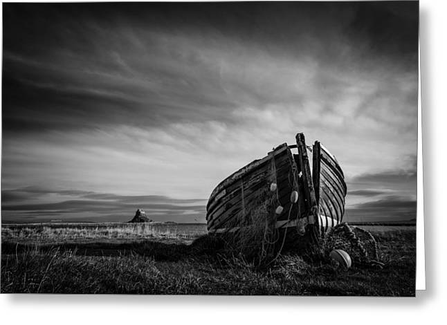 Fishing Boats Greeting Cards - Lindisfarne Greeting Card by Paul Kirby