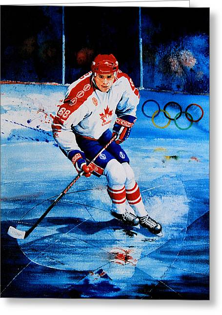 Eric Lindros Greeting Cards - Lindros Greeting Card by Hanne Lore Koehler