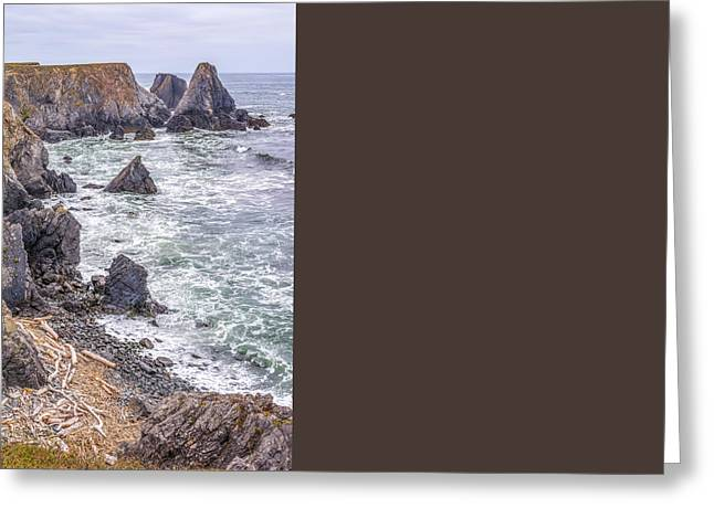 Peaceful Scene Greeting Cards - Line of Rocks Greeting Card by Joseph S Giacalone