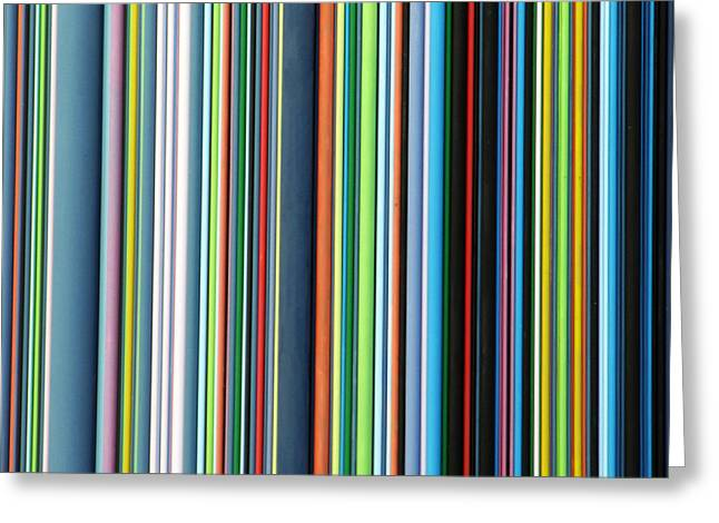 Squares. Linear Greeting Cards - Linear Technicolor - 4 of 4 Greeting Card by Alan Todd