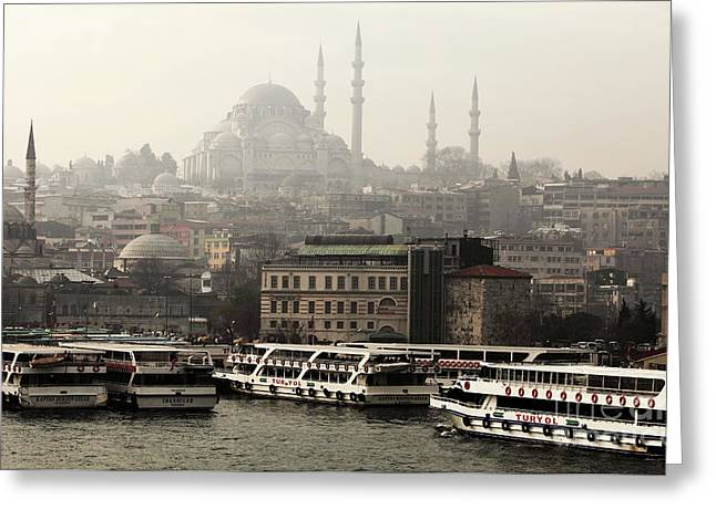 Photography Galleries On Line Greeting Cards - Lined Up on the Bosphorus Greeting Card by John Rizzuto