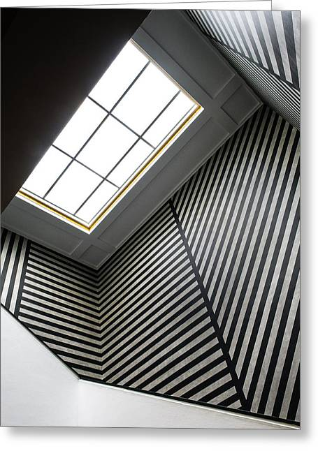 Staircase Greeting Cards - Lines Greeting Card by Luc Vangindertael