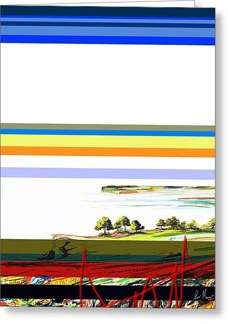 Surreal Geometric Greeting Cards - Lines  Greeting Card by Piero  Manrique