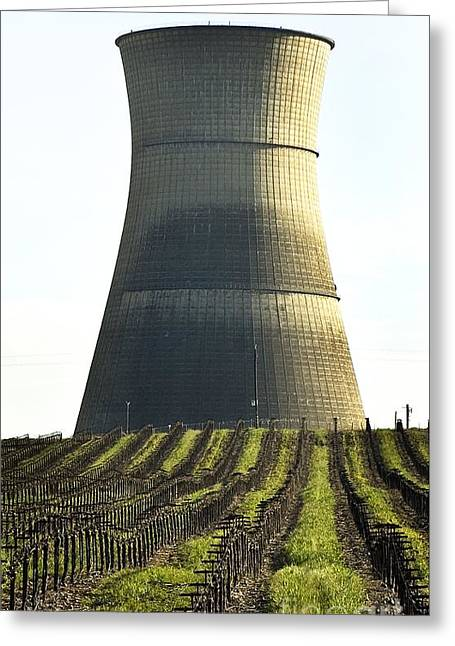 Lonly Greeting Cards - Lines To Power Tower Greeting Card by Norman  Andrus